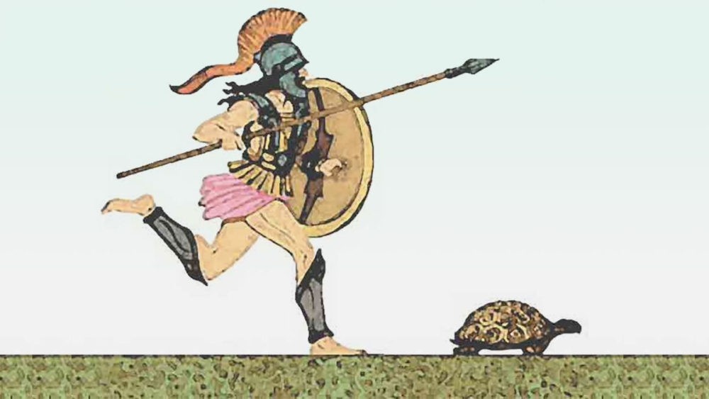 Achilles chasing Tortoise